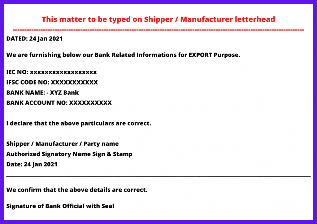 ad code letter format to customs image