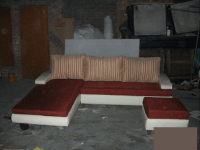 complete sofa with back cushion